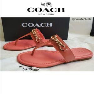 NWT COACH Jacklyn LTR Sandal-CORAL  7.5B MSRP $200